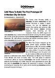 DOGOnews worksheets - UAE To Build First Prototype Of A Martian City On Earth