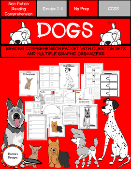 DOGS...A Reading Comprehension Packet for grades 2-5
