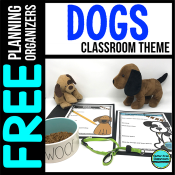 DOGS Theme Decor Planner by Clutter Free Classroom