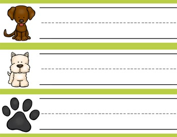 DOGS and PUPPIES - Student desk nameplates, you personalize