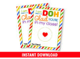 DOH glad you're in my class Play Dough Card Holder, Preschool Exchange Ideas