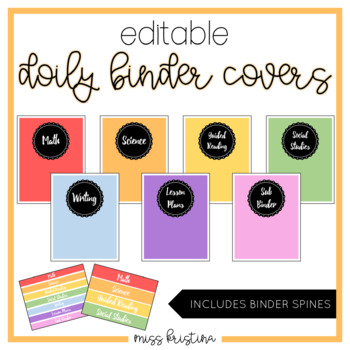 EDITABLE DOILY BINDER COVERS (INCLUDES SPINES)
