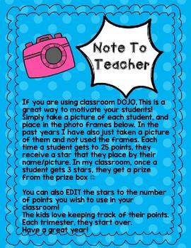 DOJO Rewards- Classroom Management