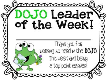"Classroom ""DOJO"" Award Certificates"