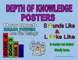 DOK 1-4 Colorful teacher and student friendly posters. Bundle Set