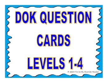 DOK 1-4 Question Stem Cards