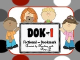 DOK 1 Fictional Bookmarks w/Starter Questions for Critical