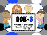 DOK 3 Fictional Bookmarks w/Starter Questions for Critical