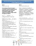 DOK 3 Dual Language Question / Verbs