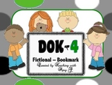 DOK 4 Fictional Bookmarks w/Starter Questions for Critical