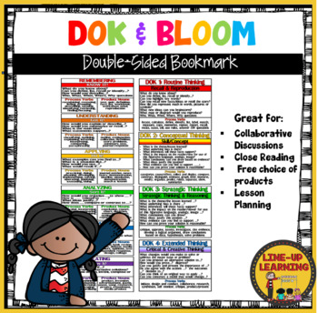 DOK & BLOOM Double-Sided Bookmark/Student Tool