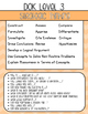 DOK (Depth of Knowledge) Posters & Activity Cards