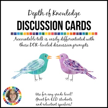Depth of Knowledge Discussion Cards