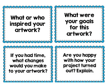 DOK Elementary Art Critique Cards and Responses