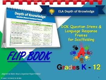 DOK Flip Book and Response Frames