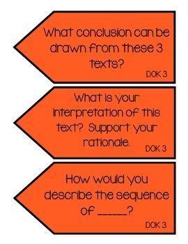 DOK Question Stem Task Cards