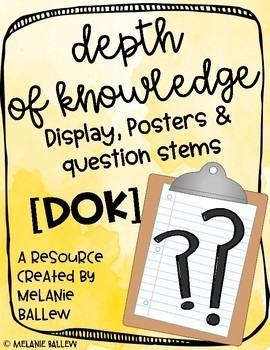 DOK Posters and Question Stems