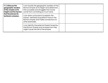 DOK Preview Learning Targets: Roman Empire (7.1, 7.1.1, 7.1.2)