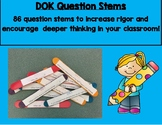 DOK Question Stem Task Card Sticks