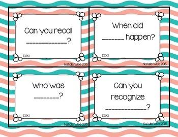 DOK Question Stem Task Cards:  Colorful version!