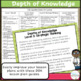 DOK Questions Stems for Science