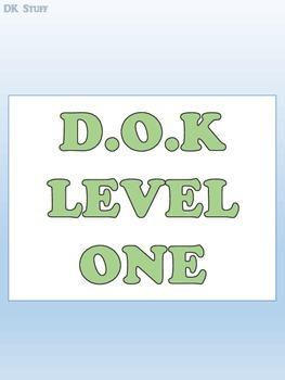 D.O.K/DOK/Depth of Knowledge