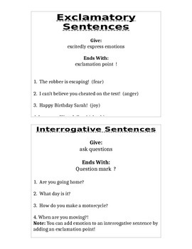 DOL: 4 types of sentences