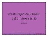 DOLCE Sight Word BINGO #2