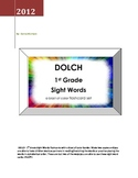 DOLCH 1st Grade Sight Words - a blast of color flashcard set