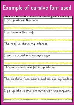 {SIGHT WORD practice} {cursive writing practice} {4th Grade sight words}