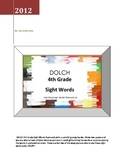 DOLCH 4th Grade Sight Words - colorful grunge border flashcard set