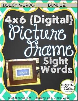 {BUNDLE:Pre-Primer,Primer,1st,2nd,3rd,Nouns}Digital Picture Frame SightWords 4X6