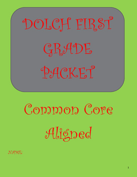 DOLCH First Grade Packet