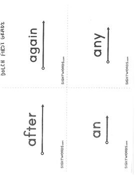 DOLCH First Grade Sight Words with Visuals