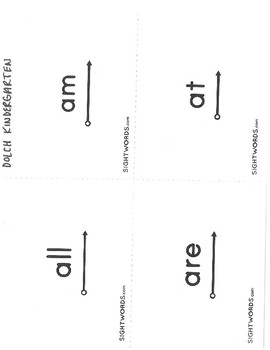 DOLCH Kindergarten Sight Words with Visuals
