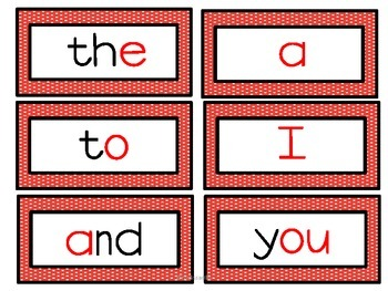 DOLCH SIGHT WORDS:  WORD WALL CARDS - Primary Colors