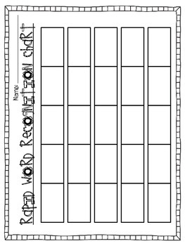 DOLCH Sight Word Assessment Lists