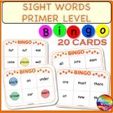 SIGHT WORDS Kindergarten Levels Reading Center Activity BINGO GAME CARDS