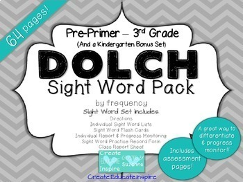 DOLCH Sight Word Mega Pack