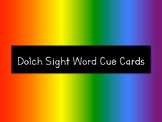 DOLCH Sight Word Rainbow Cue Cards