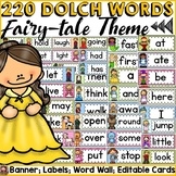 FAIRYTALE CLASS DECOR: DOLCH WORD WALL {PRE-PRIMER TO GRADE 3}