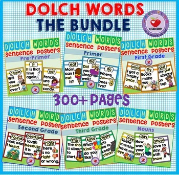 DOLCH WORDS SENTENCE POSTERS BUNDLE