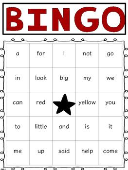DOLCH Word BINGO Pre-Primer thru 1st Grade