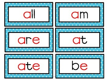 DOLCH Sight Words:  Word Wall Cards