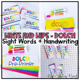 DOLCH Write and Wipe Sight Word & Handwriting Center