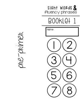 DOLCH sight word list booklets