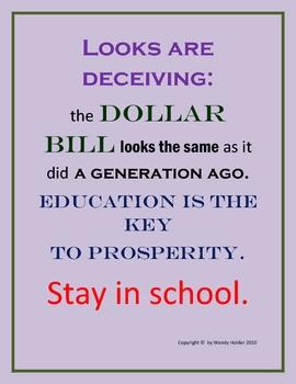 DOLLAR BILL AND EDUCATION