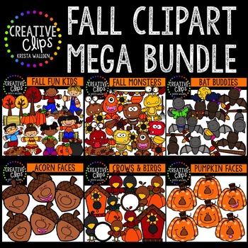 Fall Clipart Mega Bundle {Creative Clips Clipart}