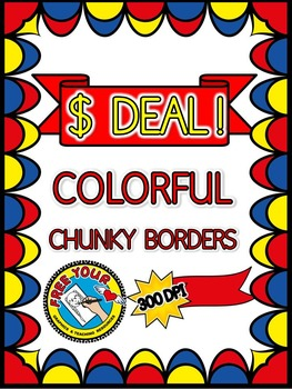 DOLLAR DEAL FRAMES CLIPART: COLORFUL CLIPART BORDERS: DOLLAR DEAL CLIPART FRAMES