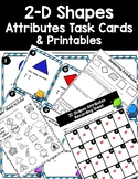 DOLLAR DEAL! 2 Dimensional Shapes Attributes Task Cards and Printables